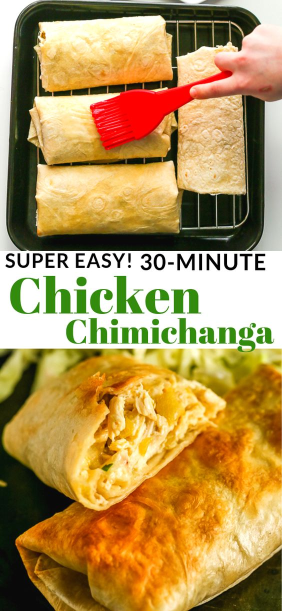 Easy 30-Minute Chicken Chimichanga Recipe