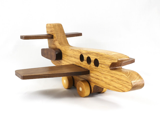 Handmade Wood Toy Airplane/Airliner from the Play Pal Series