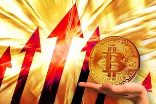 bitcoin爆上げ中