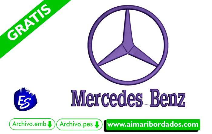Logo Mercedes Benz Para Bordar