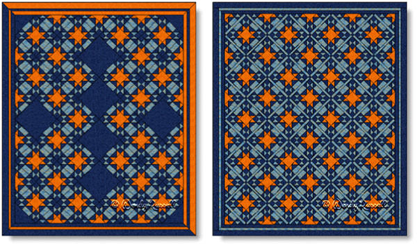 Quilts designed using the AMISH STAR quilt block - images © Wendy Russell