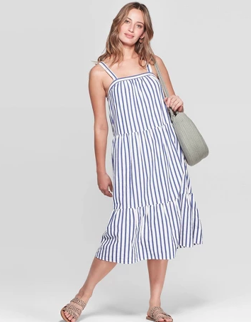 Universal Thread U-Neck Stripped Dress