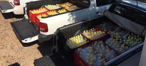 Prefeitura de Quinta do Sol distribui alcool em gel para a população