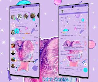 Girl Hair Theme For YOWhatsApp & Fouad WhatsApp By Driih Santos