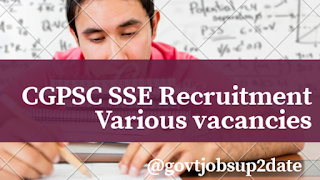 Cgpsc sse recruitment