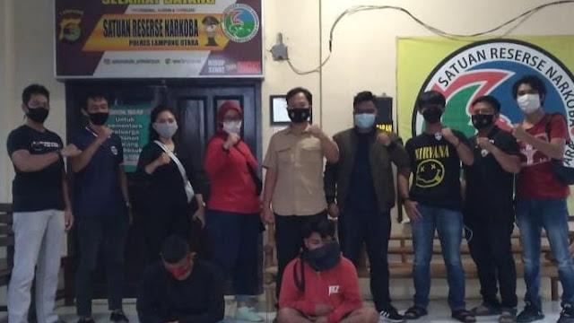 Satres Narkoba Polres Lampung Utara Berhasil Amankan Dua Tersangka Narkoba Jenis Sinte