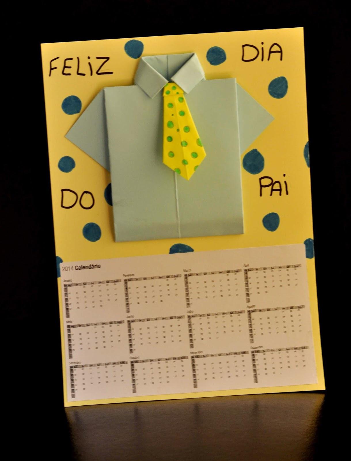 74d8976105320 Este Calendário - Origami - Gravata - Camisa para o pai é fabuloso! Vou ver  se aprendo também a fazer camisas e gravatas em papel