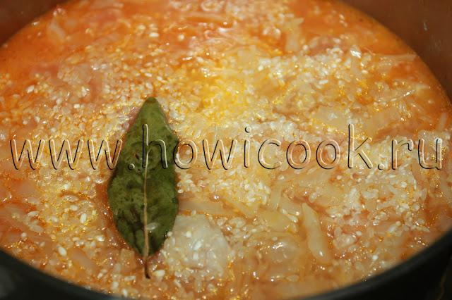 рецепт тушеной капусты с курицей с пошаговыми фото