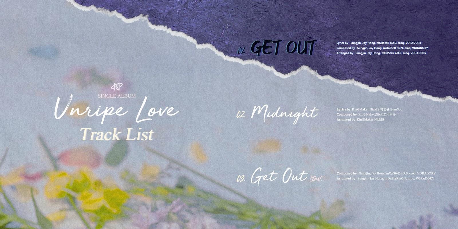 unripe love tracklist