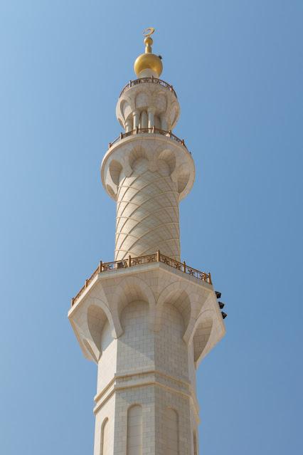 Minareto Moschea dello sceicco Zayed Abu Dhabi