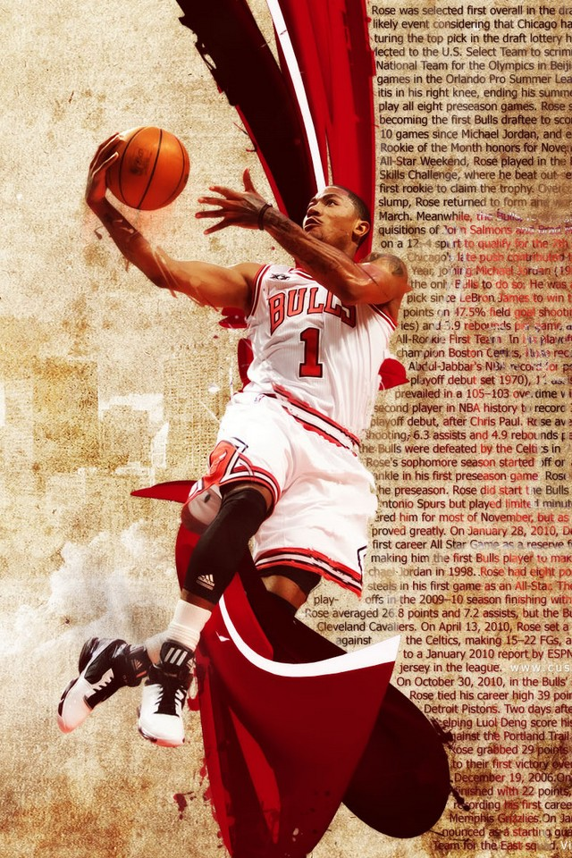 Derrick rose - Download iPhone,iPod Touch,Android Wallpapers, Backgrounds,Themes