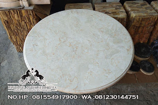 Top Table Bahan Marmer, Model Top Table Bulat, Counter Top Marmer