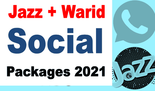 Jazz + Warid all social packages details codes 2021 weekly