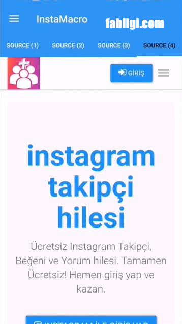 Instagram InstaMacro Apk Şifresiz Takipçi Uygulaması Nisan 2021