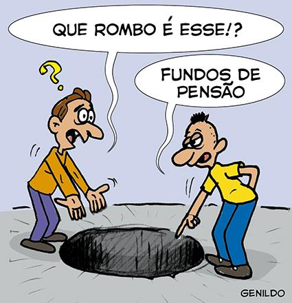 Resultado de imagem para FUNDOS DE PENSÃO CHARGES