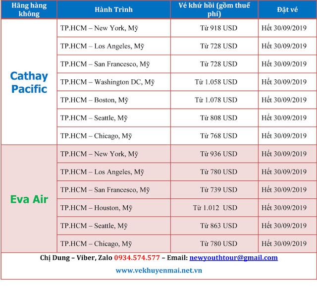 Vé máy bay đi Mỹ giá rẻ liên hệ cty Du lịch Thanh Niên Mới