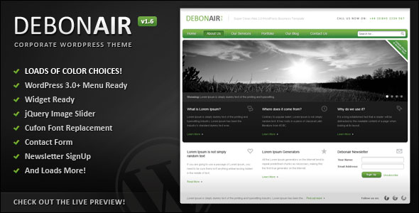 Debonair Wordpress Theme Free Download by ThemeForest.