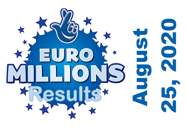 EuroMillions Results for Tuesday, August 25, 2020