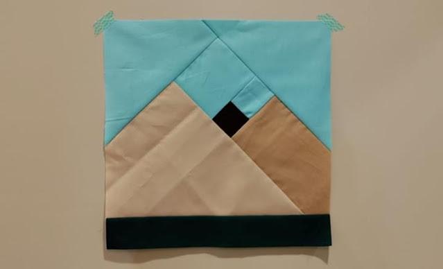Mountain quilt block