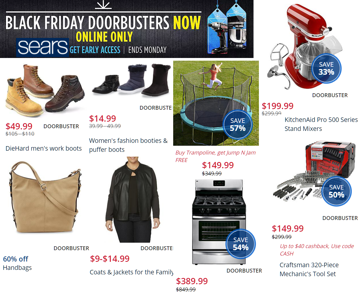 Sears Black Friday Doorbusters LIVE NOW! Diehard Work Boots
