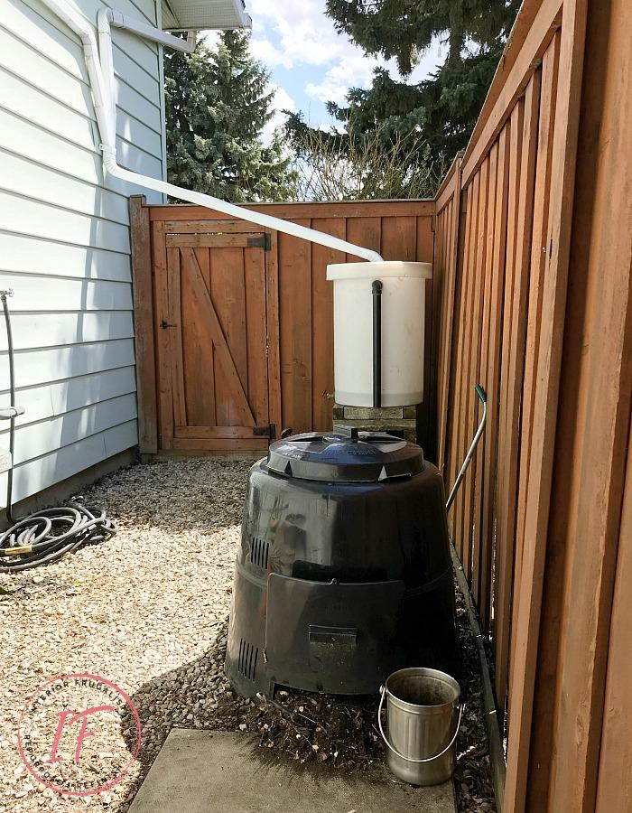 DIY Eco-Friendly Water Barrel and Compost Bin