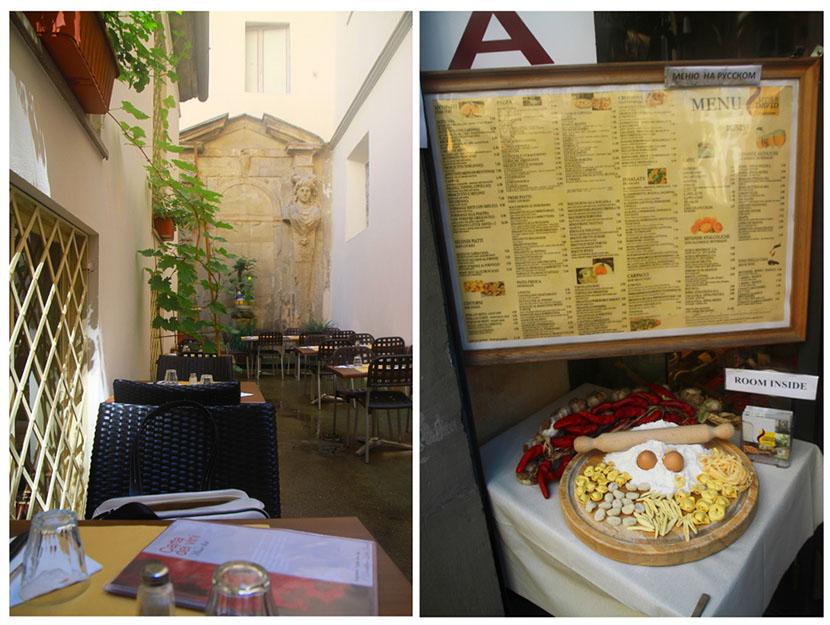 Garden restaurant, florence