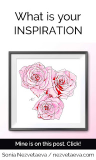What is your inspiration, Sonia Nezvetaeva, Roses bouquet, sketch, 2019