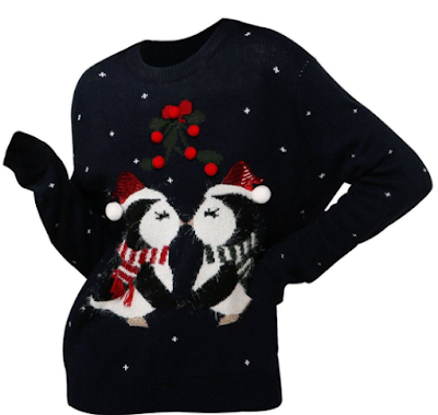 penguin, pingvini, majica, sweater, winter, zimaodjeća, fashion, kupnja online, onlajn šoping, mistletoe, imela, cheer,