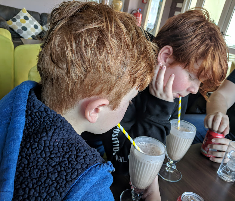 The Sands Resort Cornwall Review | A Family Hotel with Kids Club near Newquay  - milkshakes after swimming