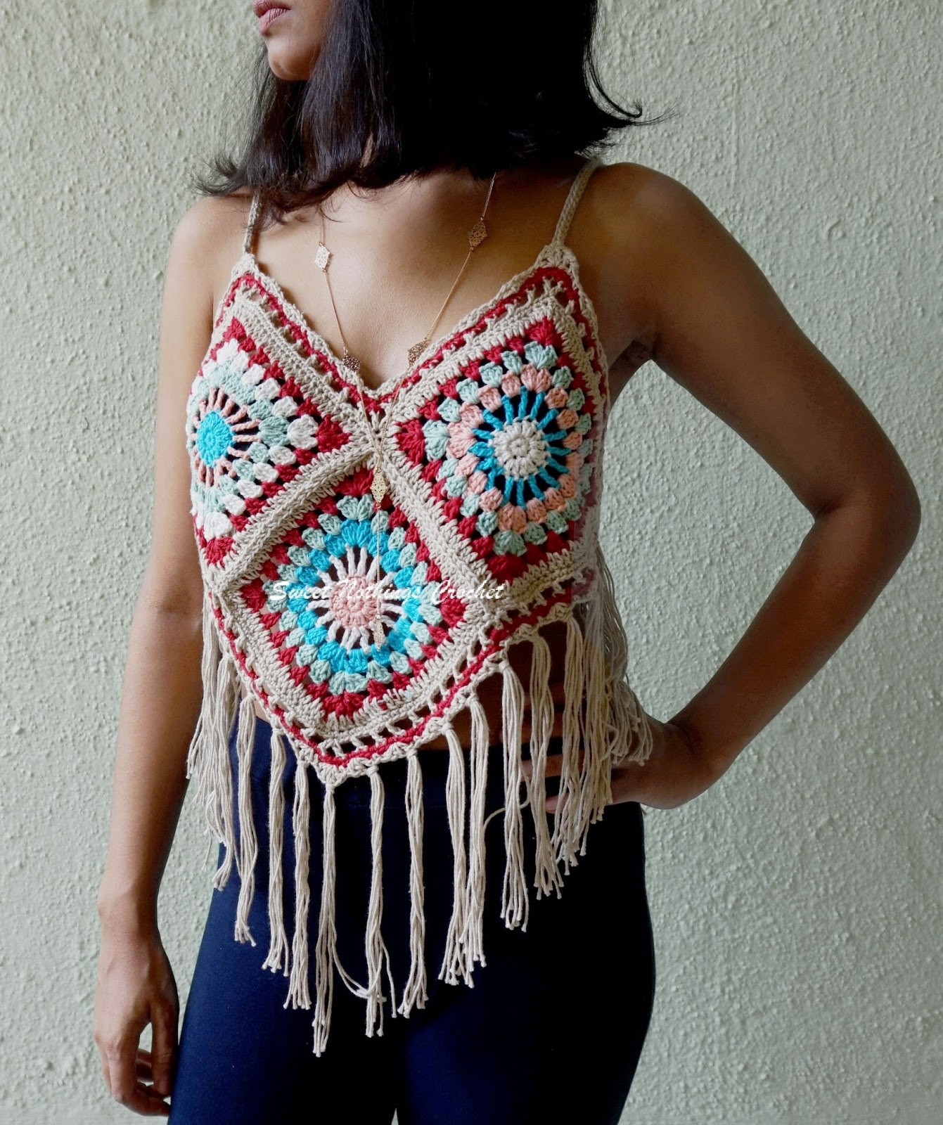 Sweet Nothings Crochet: GRANNY SQUARE BOHO / BEACH TOP