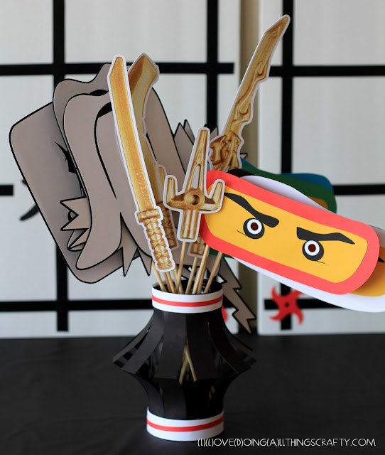 Ninjago Themed Photo Props - Free Silhouette Files