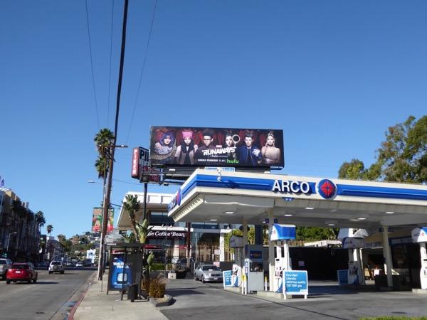 Marvel Runaways TV billboard