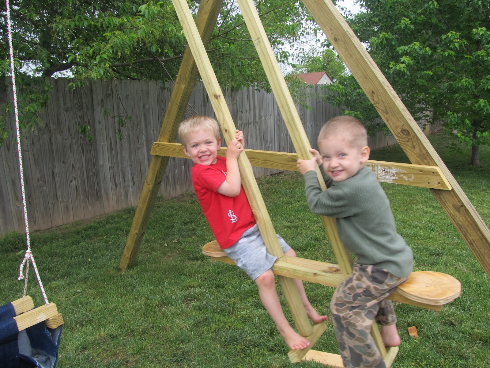 Diy Project Crazy Wood See Saw Swing