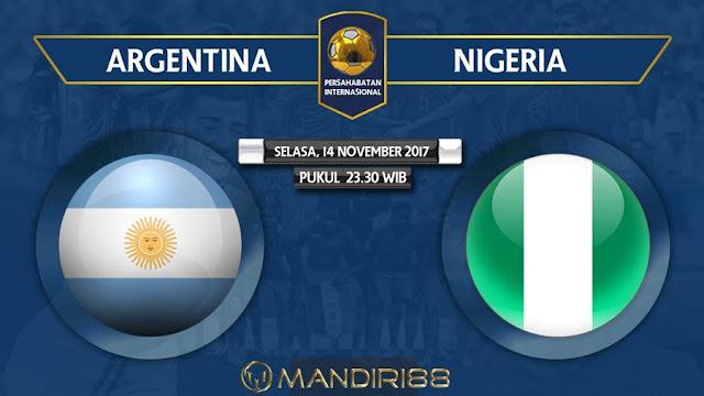 Tim nasional Argentina akan mencoba mencari sketsa alternatif tanpa Lionel Messi ketika meng Berita Terhangat Prediksi Bola : Argentina (N) Vs Nigeria , Selasa 14 November 2017 Pukul 23.30 WIB