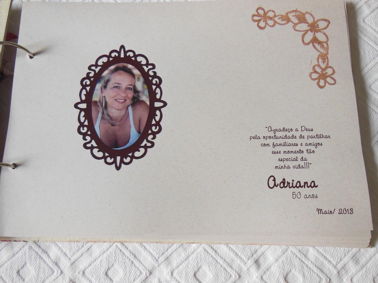 Mensagens De Aniversario De 50 Anos: L°: Livro De Mensagens - Adriana