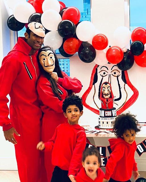 El baloncetista dominicano Al Horford estuvo celebrando sus 34 años de edad el pasado 3 de junio y su esposa Amelia Vega compartió los detalles de la fiesta al estilo La Casa de Papel