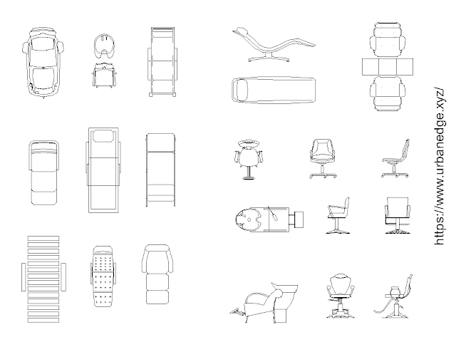Furniture for beauty salon and parlor cad blocks free download - 20+ free cad blocks
