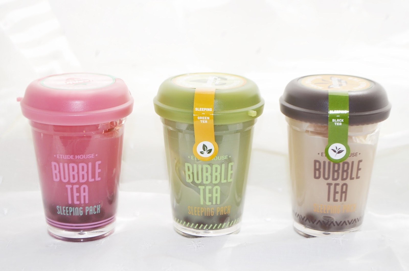 Review Etude House Bubble Tea Sleeping Pack April Pink