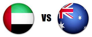 UAE versus Australia AFC quarterfinal match