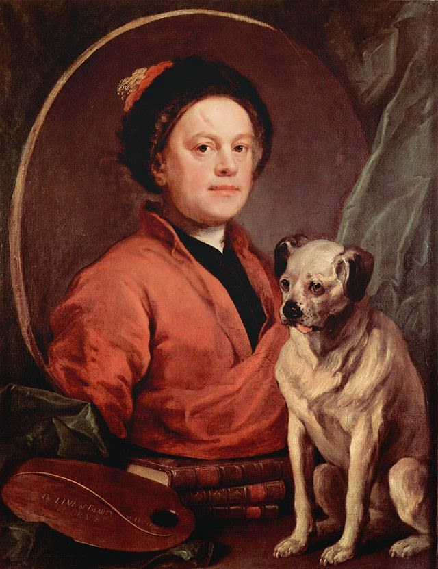 The Painter and his Pug by William Hogarth, 1745