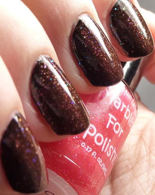 Marbles For Polish Grace over black