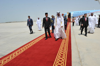 Jokowi Sambut Kedatangan Putra Mahkota Abu Dhabi