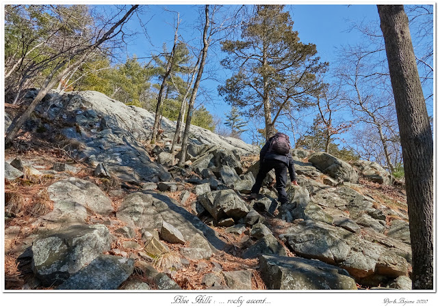 Blue Hills: ... rocky ascent...