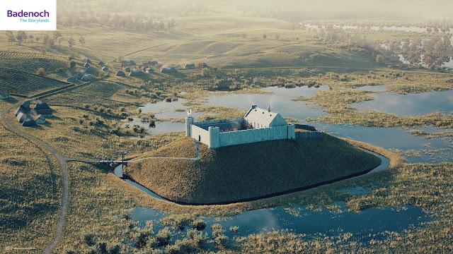 Digital reconstruction of Ruthven Castle by Bob Marshall
