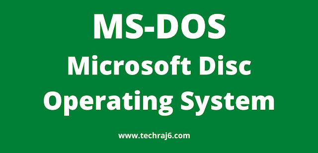 MS-DOS full form, What is the full form of MS-DOS