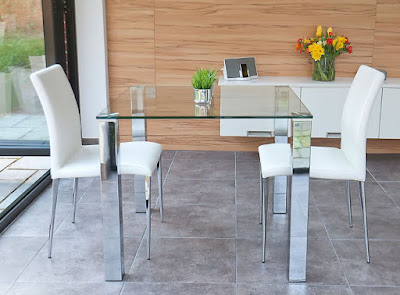 Glass dining table idea