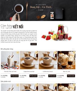 Giao diện Web quán Cafe - Theme Blogspot Quán nước - Blogspotdep.com
