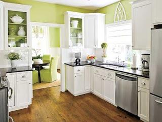 cocina color pistacho