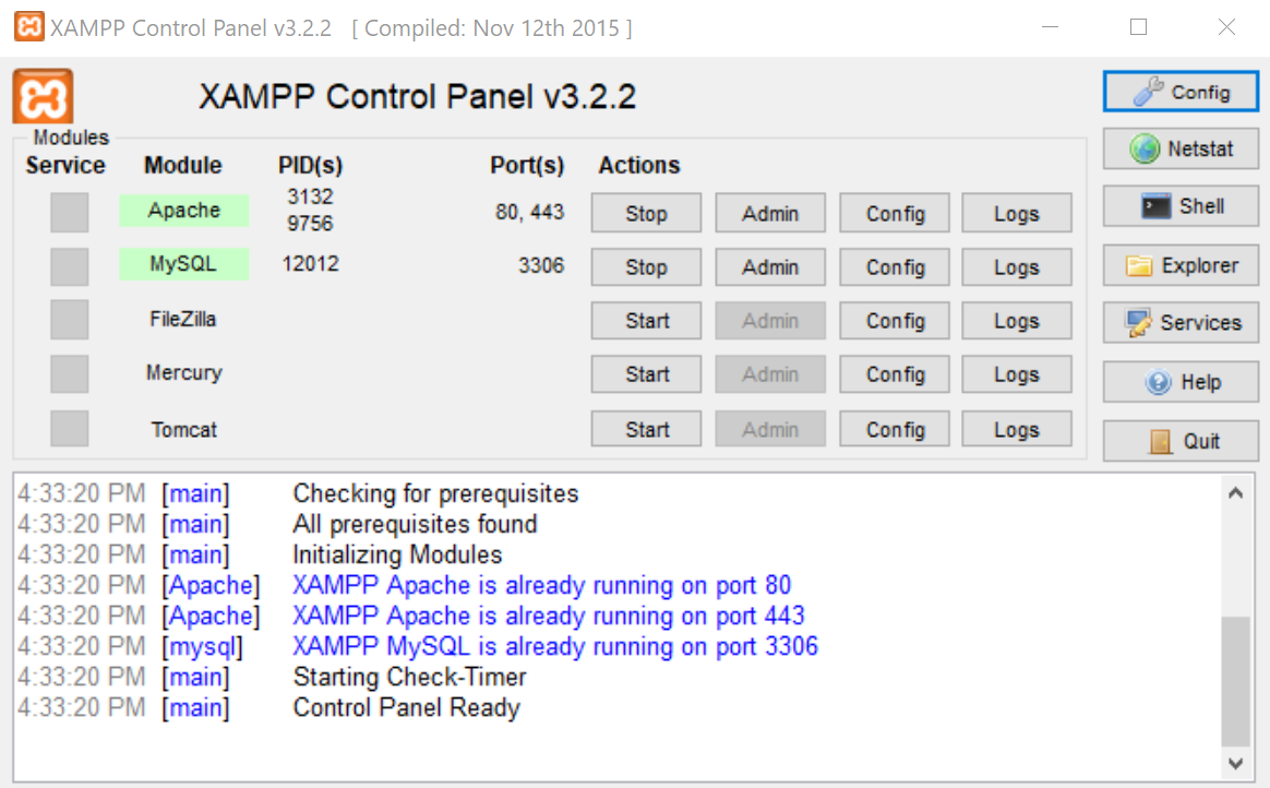 XAMPP HTTP Server For Windows