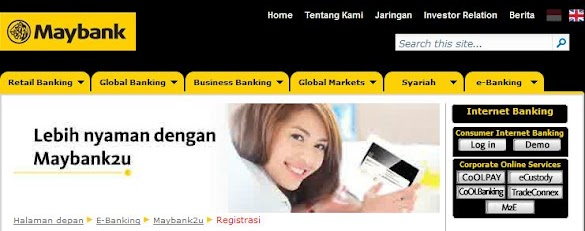 Bank BII Internet Banking Via Maybank2u.